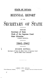 Biennial Report of the Secretary of State