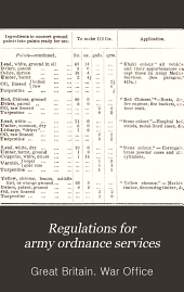 Regulations for army ordnance services
