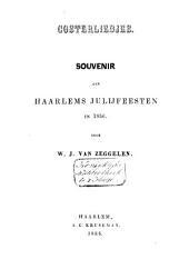 Costerliedjes: souvenir aan Haarlems Julijfeesten in 1856