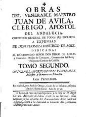 Obras de Juan de Avila