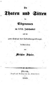 Die Thaten und Sitten der alten Eidgenossen: Band 3