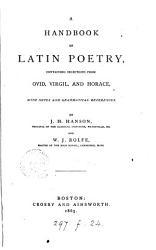A Handbook of Latin Poetry PDF
