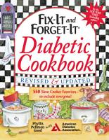 Fix It and Forget It Diabetic Cookbook Revised and Updated PDF