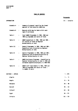 Report on UNHCR Assistance Activities in     and Proposed Voluntary Funds Programmes and Budget for     PDF