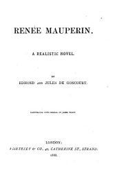 Renée Mauperin: A Realistic Novel