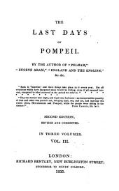 The Last Days of Pompeii: Volume 3