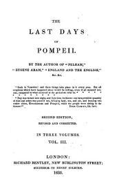 The Last Days of Pompeii: Volume 3