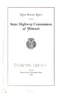 Biennial Report of the Missouri State Highway Commission PDF