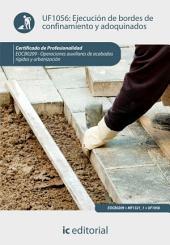 Ejecución de bordes de confinamiento y adoquinados. EOCB0209