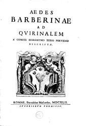 Aedes Barberinae ad Qvirinalem