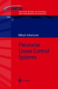 Piecewise Linear Control Systems
