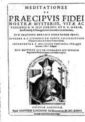 Mediataiones de Praecipvis Fidei Nostrae Mysteriss