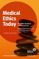 Medical Ethics Today PDF