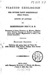 Viaggio geologico per diverse parti meridionali dell'Italia exposto in lettere