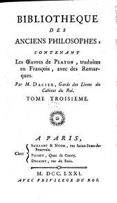 Bibliotheque des anciens philosophes ...