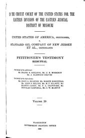 United States of America, Petitioner, V. Standard Oil Company of New Jersey Et Al, Defendants: Petitioner's testimony, rebuttal