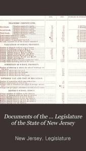 Documents of the ... Legislature of the State of New Jersey