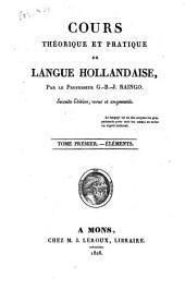 Cours théorique et pratique de langue hollandaise