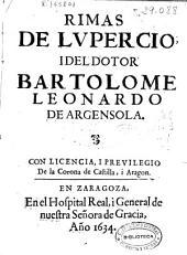 Rimas de Lupercio i del Dotor Bartolome Leonardo de Argensola