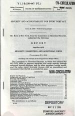 Security and Accountability for Every Port Act, April 28, 2006, 109-2 House Report 109-447, Part 1, *