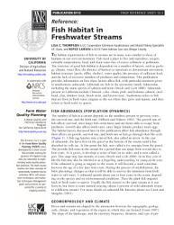 Fish Habitat in Freshwater Streams