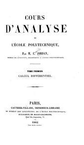 Cours d'analyse de l'École polytechnique: Volume1