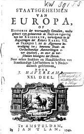 Staatsgeheimen van Europa, of Historie der voornaamste gevallen: Volume 11