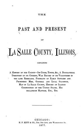 The Past   Present of La Salle County  Illinois PDF