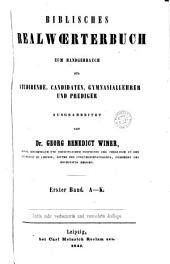 Biblisches Realwörterbuch zum Handgebrauch. 2 Hälften
