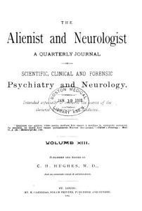 Alienist and Neurologist Book