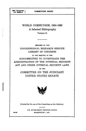 World Communism  1964 1969 PDF