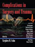 Complications in Surgery and Trauma PDF