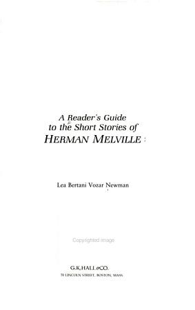 A Reader s Guide to the Short Stories of Herman Melville PDF