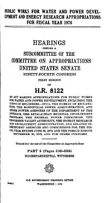 Public Works for Water and Power Development and Energy Research Appropriations for Fiscal Year 1976 PDF