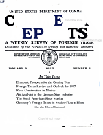 Commerce Reports Nos 1 13 Volume 1 Thirtieth Year January February March 1927  PDF