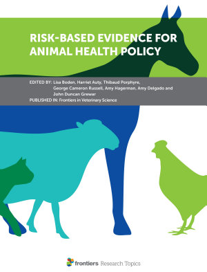 Risk Based Evidence for Animal Health Policy PDF
