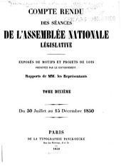 Compte rendu des séances de l'Assemblée nationale: Volume10