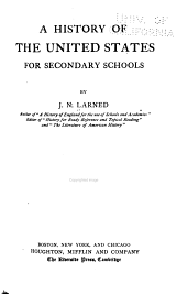 A History of the United States for Secondary Schools