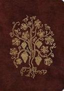 ESV Single Column Journaling Bible  Large Print  TruTone  Burgundy  Grapevine Design