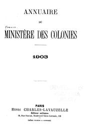 Annuaire du Ministère des Colonies