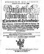 Historica relatio: oder warhafftige Beschreibunge aller fürnemen vnnd gedenckwürdigen Historien .... 1623/24 (1624)