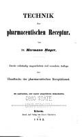 Technik der pharmaceutischen Receptur PDF