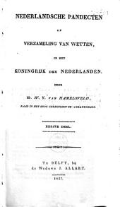 Nederlandsche Pandecten of Verzameling van Wetten