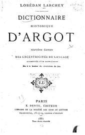 Dictionnaire historique d'argot