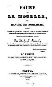 Faune de la Moselle: Volume1