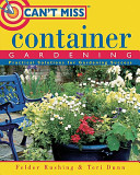 Can t Miss Container Gardening PDF
