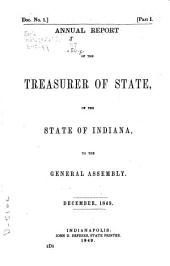 Annual Reports of the Officers of State of the State of Indiana