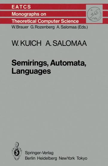 Semirings  Automata  Languages PDF