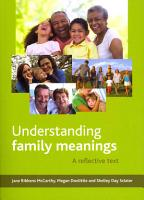 Understanding Family Meanings PDF