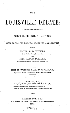 The Louisville Debate PDF